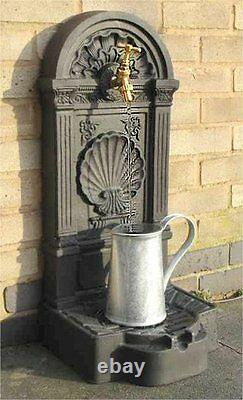 Garden Brass Tap Water Feature Self Contained Outdoor Wall Ornament Fountain Nouveau