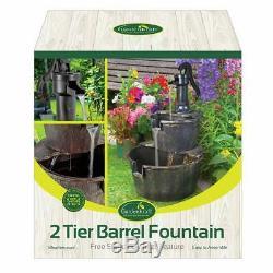 Gardenkraft Garden - Fontaine Fontaine À 2 Niveaux Avec Pompe, Bronze