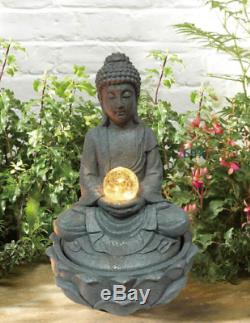 Gardenwize Garden & Fontaine Solaire D'extérieur Avec Une Boule Lumineuse