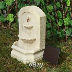 Gardenwize Jardin Et Extérieur Solaire Pierre Ornement Statue Fontaine D'eau Caractéristiques
