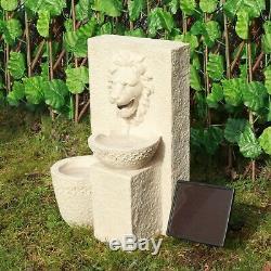 Gardenwize Jardin Extérieur À Énergie Solaire Lion Head Pierre Fontaine D'eau Caractéristiques