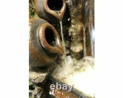 Grand 2 Jug Woodland Water Feature, Caractéristique De L'eau Traditionnelle, Fontaine Extérieure