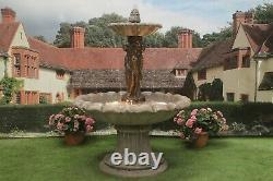 Grand 3 Grace Fountain Self Contained Stone Water Feature Garden Ornament