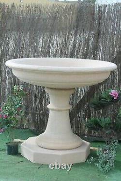 Grand Bol De Fontaine En Pierre Et Ornements De Jardin De Dispositif D'eau De Pedastal