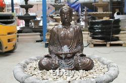Grand Bouddha Serene Fontaine D'eau Ornement De Jardin Statue En Pierre Caractéristiques