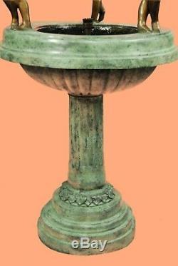 Grand Bronze Fontaine D'eau Statue Avec Des Anges Sculpture Jardin Décoration