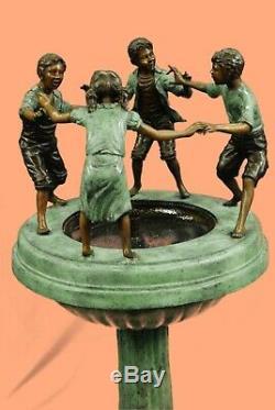 Grand Bronze Fontaine D'eau Statue Avec Des Enfants Jardin Sculpture Décoration Intérieure Art