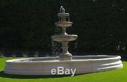 Grand Chester Piscine Entourez Jardin Edwardian Fontaine D'eau Caractéristiques