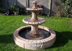 Grand Choix De Fontaine De Jardin En Pierre Extérieure, Caractéristique De L'eau