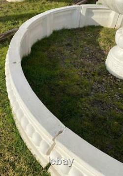 Grand Environnement En Béton Pour L'eau De Fontaine De Jardin Comportent 300cm Diamètre