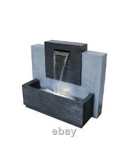 Grand Extérieur Contemporain Caractéristique De L'eau Fontaine D'eau Ciment H71cm