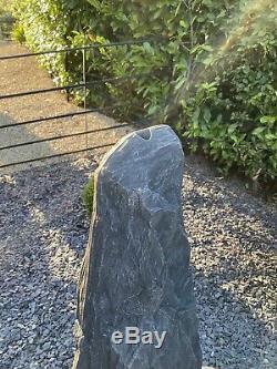 Grand Jardin Aquatique De La Pierre Fontaine Pebble Ardoise Naturelle Monolithe 145cm