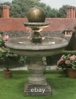 Grand Regis Ball Fountain Stone Garden Ornament Water Feature Ornament Solar
