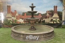 Grand-laurent Piscine Surround 3 Hiérarchisé Edwardian Stone Garden Fontaine D'eau