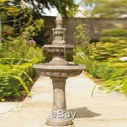 Grande 1.3m De Luxe À Deux Niveaux Centerpiece Jardin Fontaine D'eau Kit De Fonction