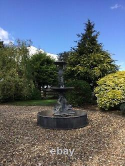 Grande Avance Antique Trois Niveaux De Fontaine D'eau De Chérubins Fonction D'eau De Jardin