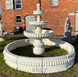 Grande Fonction D'eau De Fontaine À Plusieurs Niveaux De Jardin En Béton 260cm De Haut