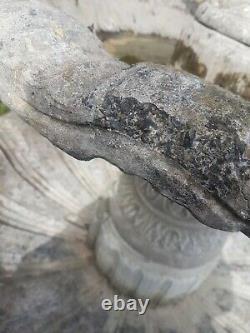 Grande Fontaine D'eau De Jardin À Quatre Niveaux 6ft De Haut 4.5ft Large Statue De Dispositif D'eau