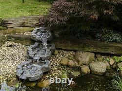 Grande Fontaine De Jardin 3pc Set Cascade Water Feature Pond Cascade Patio Decor