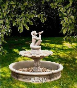 Grande Fontaine De Jardin Fille Eau Potable Eau En Pierre 159x130 CM