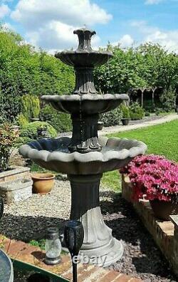 Grande Pierre 3 À Plusieurs Niveaux Fontaine D'eau De Barcelone Feature Garden Ornament