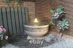 Grande Pierre Niagara Water Fountain Garden Ornament Patio Autonome Caractéristique