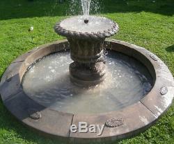 Grande Piscine Laurel Surround Jardineer Bain D'eau Fontaine De Jardin Featur
