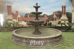 Grande Piscine Lawrence Surround 3 Rangées Edwardian Stone Garden Water Fontaine