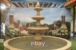 Grande Piscine Mandarine Surround 3 Tiered Dynasty Stone Garden Water Fountain Featur