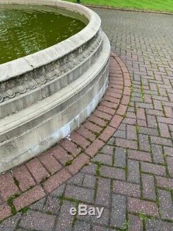 Grande Piscine Surround Edwardian Pierre Style 3 Niveau Jardin Fontaine D'eau Caractéristiques