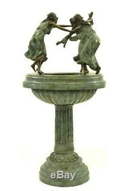 Grande Statue En Bronze De Fontaine D'eau Avec Des Filles Dansant La Figurine De Sculpture De Jardin