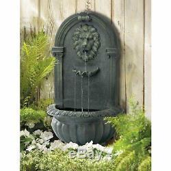 Grec Lions Head Mur D'eau Fontaine De Jardin Pelouse De Jardin Cadeaux D'art Regard De Pierre