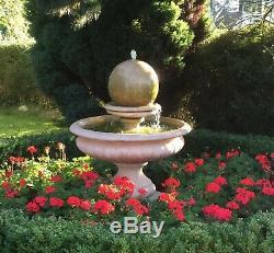 Hampshire Stone Garden Boule Fontaine D'eau Ornement De Fonction