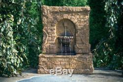 Ivy Garden Fountain Statue Extérieure En Ciment À L'eau