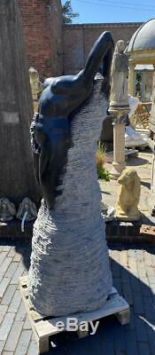 Jardin Aquatique De La Fontaine En Marbre Sculpté À La Main Lady Résumé 157cm Haut