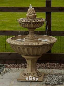 Jardin Aquatique De La Grande Ananas À Deux Niveaux Stone Fountain