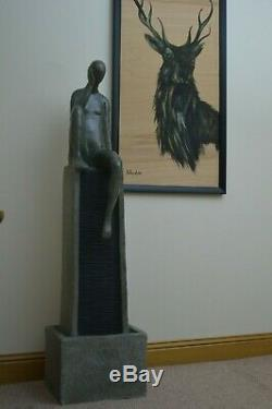 Jardin Caractéristiques Intérieure Fontaine D'eau Statue En Pierre Self Contained Lumières Led