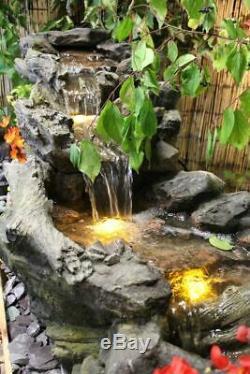 Jardin D'eau Qui Coule Woodland Feature, Fontaine D'extérieur Great Value Solaire