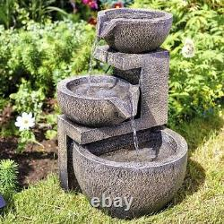 Jardin D'eau Solaire Caractéristique Cascade Fountain Waterfall Ornement Extérieur