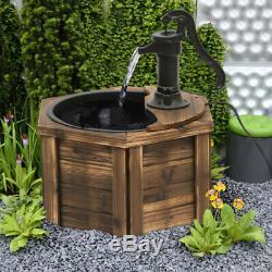 Jardin Électrique Fontaine D'eau Feature Ornement Pompe À Main Vintage Style Décor