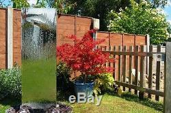 Jardin En Acier Contemporain De Fontaine De Cascade De Fontaine D'eau De Mur De Position Libre
