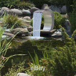 Jardin Étangs Cascade Piscine Fontaine D'eau En Acier Inoxydable 45x30x60cm Outdoor Uk