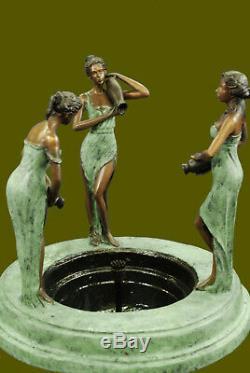 Jardin / Extérieur / Jardin / Paysage 3 Femme Fontaine D'eau Sculpture En Bronze Vente