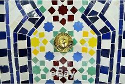 Jardin Fontaine D'eau, Petite Marocaine Zellige Extérieure Eau Caractéristiques H77cm
