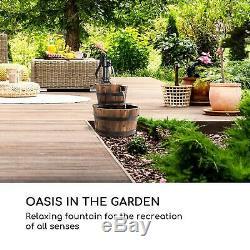 Jardin Fontaine Plan D'eau En Cascade 2 Niveau Home Decor 12w 600l / H Bois Marron