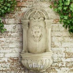 Jardin Mur D'eau Solaire Feature Led Grande Fontaine Bird Bath Antique Patio Décor