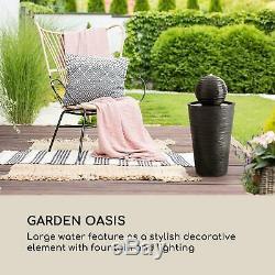 Jardin Solaire Fontaine D'extérieur Pompe À Eau 200l / H Panneau De 2w Batterie Led Noir