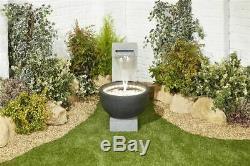 Kelkay Solitary Verser L'eau Avec Des Lumières Équipement De Jardin, Fontaine D'extérieur
