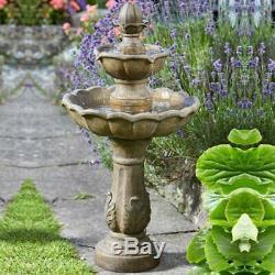 Kingsbury - Effet De Jardin Solaire Avec Effet De Pierre À Deux Niveaux Avec Fontaine En Cascade