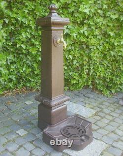 L'eau Spigot Pilier Fontaine Die-cast Jardin Antique Nostalgie Nouveau